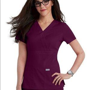 Grey's Anatomy Tops - 💊 Grey's Anatomy 3 Pocket Mock Wrap Scrub Top 💊